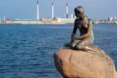 Piccola sirena a Copenhaghen Fotografia Stock Libera da Diritti