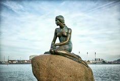 Piccola sirena, Copenhaghen, Danimarca Immagine Stock Libera da Diritti