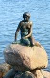 Piccola sirena dal racconto di Andersen, Copenhaghen Fotografie Stock Libere da Diritti