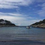 Piccola spiaggia in Ibiza Immagini Stock