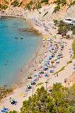 Piccola spiaggia a Ibiza, Spagna Fotografia Stock Libera da Diritti