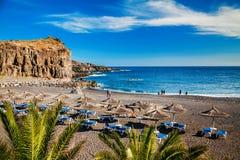 Piccola spiaggia nel villaggio Callao Salvaje Fotografia Stock Libera da Diritti