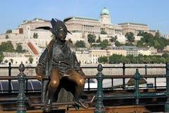 Piccola statua Budapest di principessa Fotografia Stock