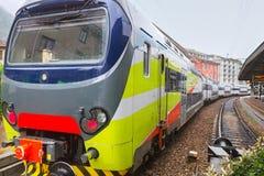 Piccola stazione ferroviaria in Como Fotografie Stock