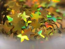 Piccola stella d'oro, scintillio per la pittura del chiodo Fotografia Stock
