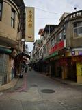 Piccola strada nel paese di Jinmen, Taiwan immagini stock