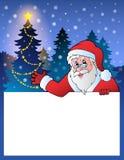 Piccola struttura con Santa Claus 2 Fotografia Stock Libera da Diritti