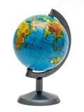 Piccola terra del globo della scuola dello scrittorio Fotografie Stock Libere da Diritti