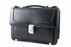 Piccola valigia nera Fotografie Stock