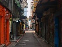 Piccola vecchia via in Taipei fotografia stock libera da diritti
