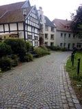 Piccola via della città della Germania Fotografia Stock