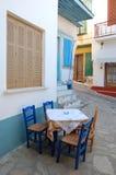 Piccola via in Grecia Fotografia Stock Libera da Diritti