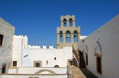 Piccola via in Grecia Immagine Stock