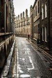 Piccola via posteriore a Cambridge Fotografia Stock