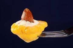 Piccola zucca farcita con formaggio Immagini Stock Libere da Diritti