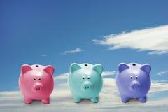 Piccole banche piggy Immagine Stock