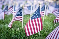 Piccole bandiere americane Fotografia Stock Libera da Diritti