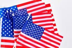 Piccole bandiere della tavola di U.S.A. Fotografie Stock