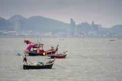 3 piccole barche dei pescatori immagine stock libera da diritti