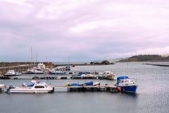 Piccole barche nel porto delle ragazze vicino a Girvan Scozia Fotografia Stock Libera da Diritti