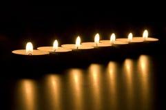 Lume di candela Immagine Stock