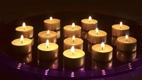 Piccole candele di natale Immagine Stock Libera da Diritti