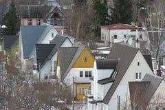 Piccole case della città Fotografia Stock