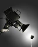 Piccole e grandi macchine fotografiche Fotografie Stock Libere da Diritti