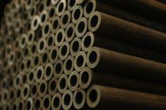 Piccole estremità del tubo d'acciaio Immagine Stock
