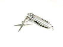 Piccole forbici del coltello multifunzionale Immagini Stock Libere da Diritti