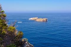 Piccole isole rocciose - capo Tourville Immagini Stock