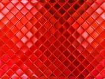 Piccole mattonelle di vetro rosse Fotografia Stock