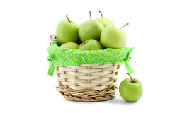 Piccole mele verdi Immagine Stock