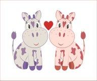 Piccole mucche royalty illustrazione gratis