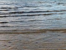 Piccole onde su Sandy Beach Immagini Stock