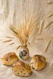 Piccole pagnotte di pane con le olive Fotografia Stock Libera da Diritti