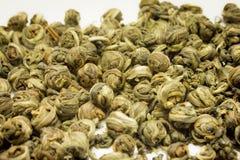 Primo piano cinese del tè verde Immagini Stock