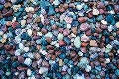 Piccole pietre di colore, ciottoli del primo piano Immagine Stock Libera da Diritti