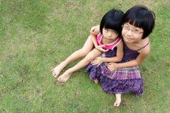 Piccole ragazze asiatiche Immagini Stock