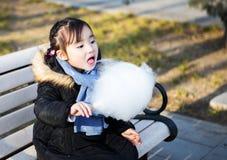 Piccole ragazze asiatiche adorabili che giocano nel parco Immagine Stock Libera da Diritti