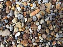Piccole rocce d'abbellimento in un giardino Fotografia Stock