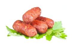 Piccole salsiccie Fotografie Stock