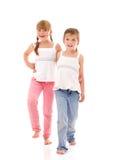 Piccole sorelle felici Immagine Stock