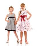 Piccole sorelle felici Fotografie Stock