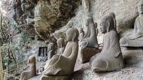 Piccole statue dei monaci buddisti Fotografia Stock