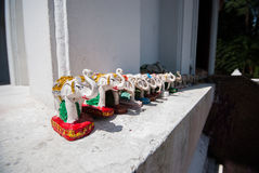 Piccole statue dell'elefante Immagini Stock Libere da Diritti