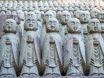 Piccole statue di Buddha del monaco Fotografia Stock