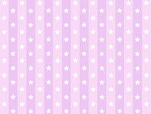 Piccole stelle con la linea a strisce rosa modello Immagine Stock