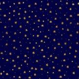 Piccole stelle d'oro Immagini Stock Libere da Diritti