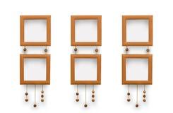 Piccole strutture della foto Pizzi decorativi con le perle di argilla illustrazione vettoriale